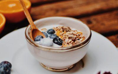 Porridge de sarrasin , myrtille et banane
